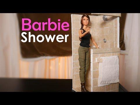 Homemade Barbie Shower - Diy Doll Furniture Custom