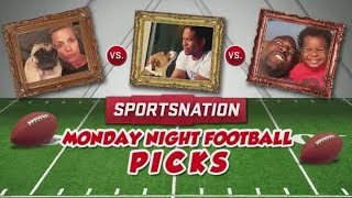 Dogs and children make Monday Night Football predictions | SportsNation | ESPN
