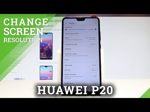 How to Change Screen Resolution in HUAWEI P20 - Set Up Display Resolution |HardReset.Info
