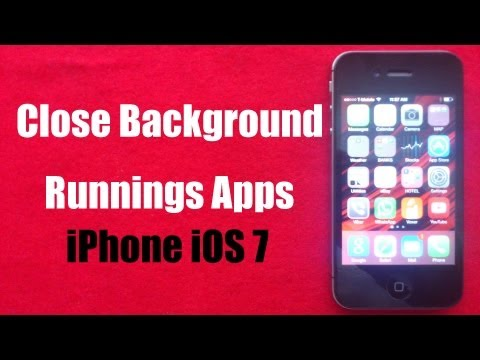 Close Background running Apps on iphone ios7