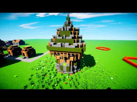Block By Block Minecraft Build: Tower (HD SHADERS)