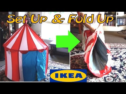 Ikea Cirkustalt Tent Assemble & How To Fold Up And Store Away Once Finished