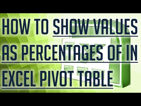 [Free Excel Tutorial] HOW TO SHOW VALUES AS PERCENTAGES OF IN EXCEL PIVOT TABLES - Full HD