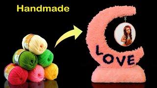 Love || Hanging Photo Frame Handmade || DIY Photo frame using Woolen || DIY Room Decor Craft Idea