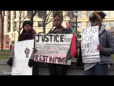 Haunting, artful demonstration at #BlackLivesMatter event in Washington DC