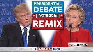 Presidential Debate 2016 REMIX - WTFBRAHH (Trump Vs Hillary)