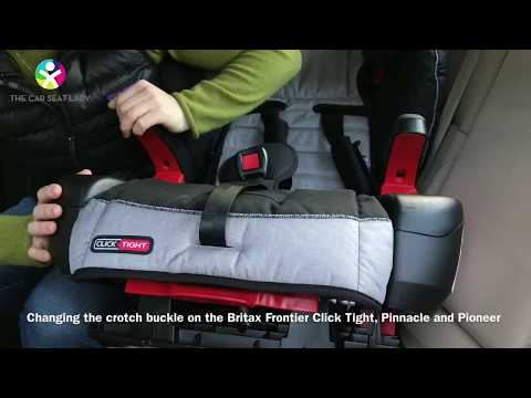 How to change the crotch buckle on a Britax Frontier CT, Pinnacle, or Pioneer