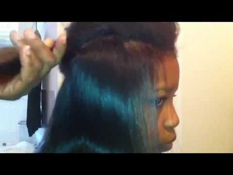 How To Give Natural Hair The Relaxed Look With Soc it 2 Mii Curls and A Flatiron