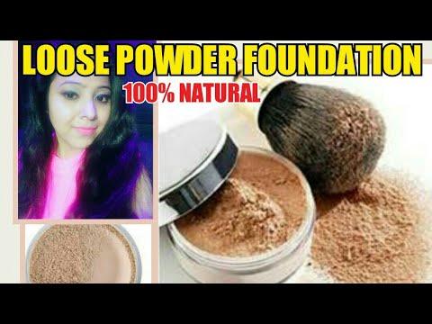 DIY LOOSE POWDER  MINERAL FOUNDATION|DIY MINERAL FOUNDATION POWDER 100% NATURAL ORGANIC| SWEAT PROOF
