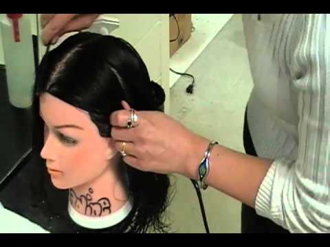 Sectioning the Hair into 4 sections