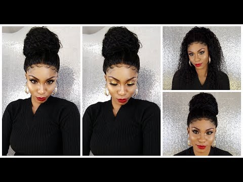 How To: Massive Bun with 360 Lace Wig |No glue/gel/tape| Ft. Eva Wig