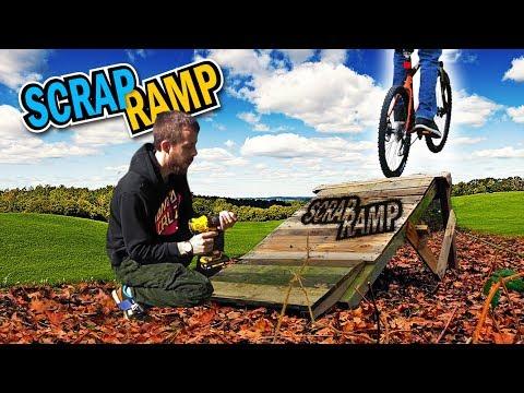 Wood Pallet Ramp Build | MTB | Trail