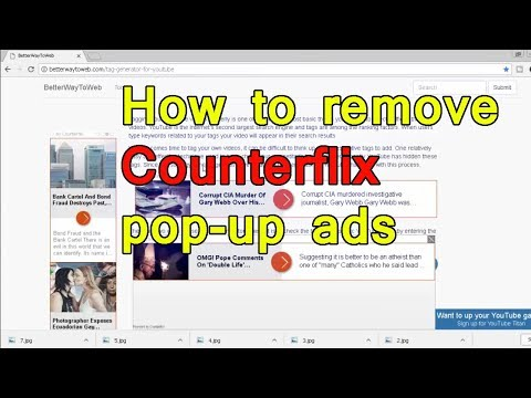 Counterflix pop up advertiesment remove On Chrome, pc, Firefox really easy
