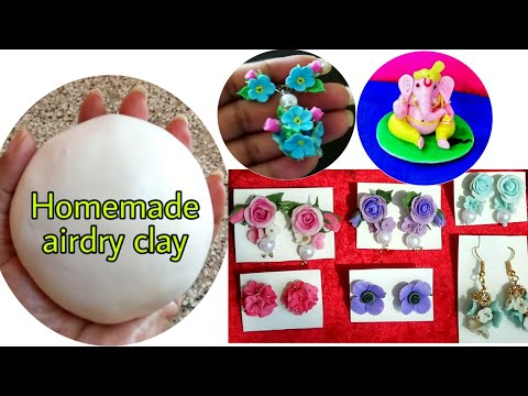 How to make Homemade air dry clay for Jewellery/CP clay