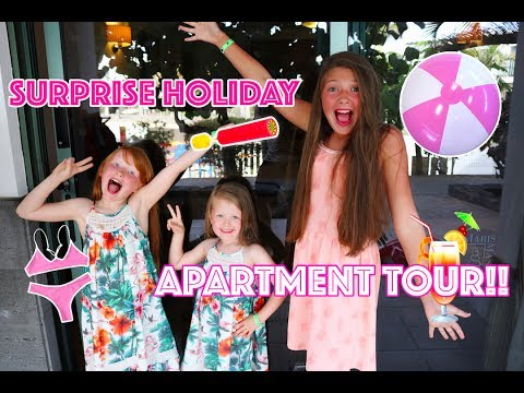 HOLIDAY APARTMENT ROOM TOUR! + FIRST DAY POOL PARTY!