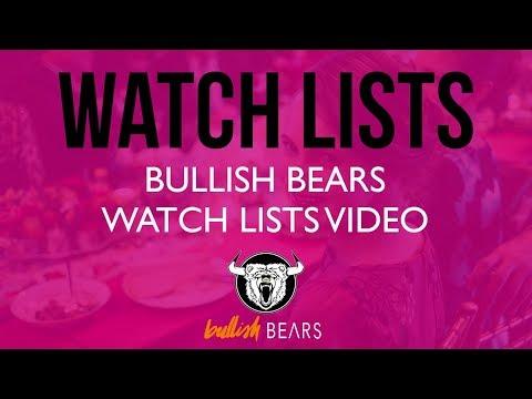Stock Watch Lists - Bullish Bears Stock Watch List 6-8-2018