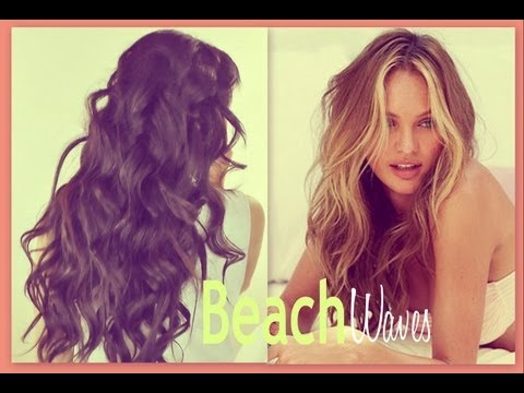 ★BEACH HAIR TUTORIAL | VICTORIA'S SECRET CURLY HAIRSTYLES - HOW TO CURL WAVES FOR MEDIUM LONG HAIR