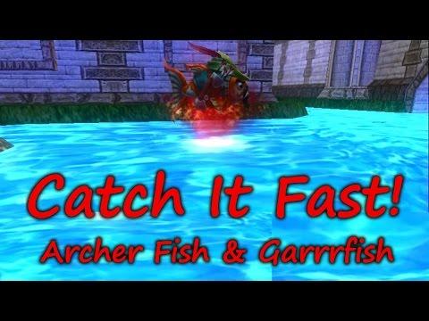 Wizard101: Fishing Catch It Fast - Archer & Garrrfish