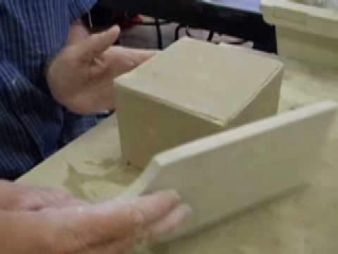 How to make  a ceramic box with firm slabs part 4