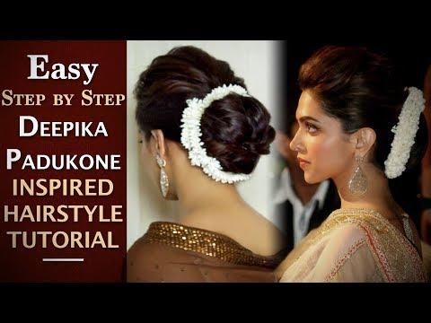 Deepika Padukone Hair Updo Tutorial | Easy Deepika Padukone Inspired Hair Bun | Chandni Singh