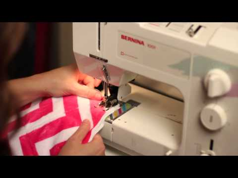 How to sew squares into rows on a rag quilt