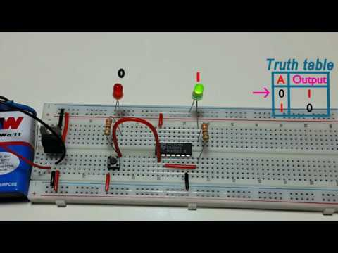 How to work NOT logic gate , using CD7404 ic, in Tamil & English,தமிழ் எலெக்ட்ரானிக்ஸ்