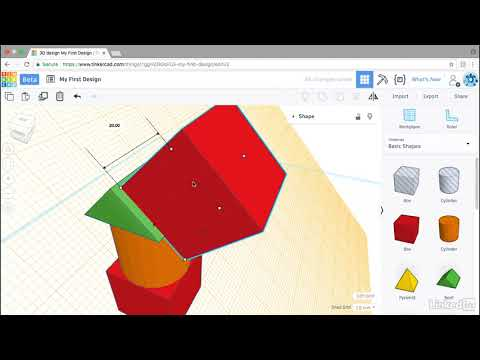Using the workplane | Learning Tinkercad from LinkedIn Learning