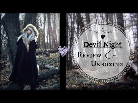 DEVILNIGHT REVIEW VIDEO (AND UNBOXING) Where to Buy Capes and Goth Clothing | The Magic Crafter