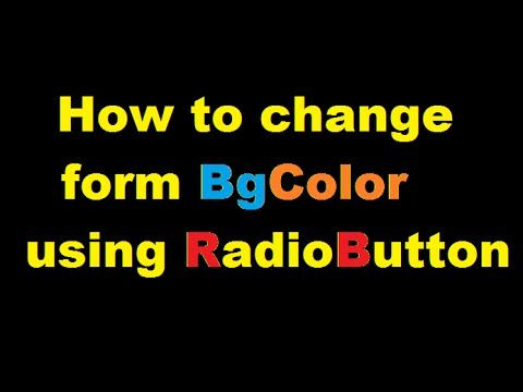 How to change background color in runtime using Radio Button