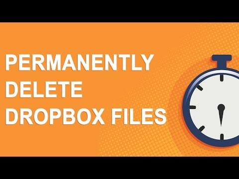 Permanently delete Dropbox files