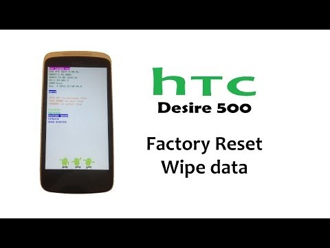 HTC Desire 500 - Hard Reset,  Password Lock, Factory Reset, Back to factory settings)
