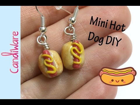 Tutorial: DIY Mini Hot Dog Earrings - FIMO, Polymer Clay