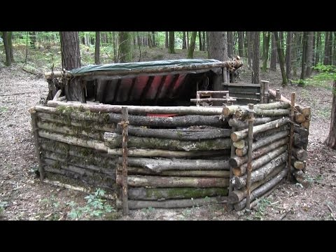 Building A Super Shelter In The Woods (Part 1)