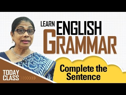 Learn English Grammar | Complete the sentence | Basic English Grammar for kids