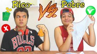 RICO VS POBRE NA ESCOLA #45 - FAZENDO AMOEBA/SLIME !!
