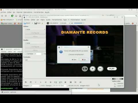 Avidemux .VOB a .AVI en Ubuntu