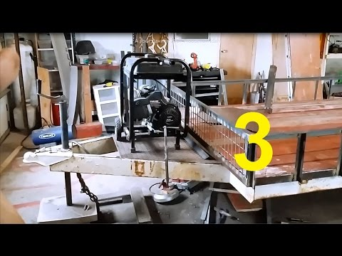 Building a Flat Bed utility Trailer from Salvage RV Frame #3 (parts List Below)