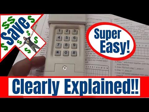 🆕Garage Door Opener How To Program A Wireless Chamberlain Universal Keypad🆕