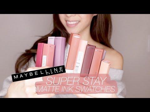 Maybelline SuperStay Matte Liquid Lipsticks SWATCHES!