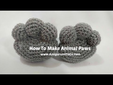 How To Make Amigurumi Paws