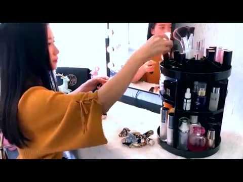 Rotating 360 Degrees Makeup Organizer Box