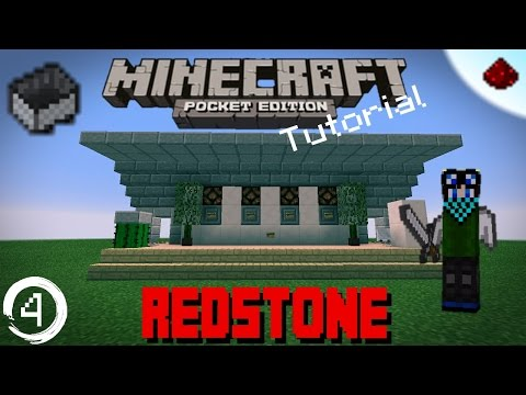 Minecraft PE Redstone Tutorial: How to make a Minecart Station