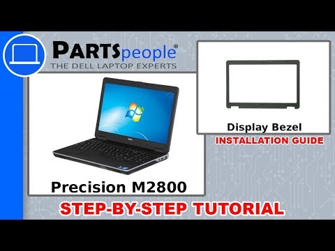 Dell Precision M2800 (P29F001) Display Bezel How-To Video Tutorials