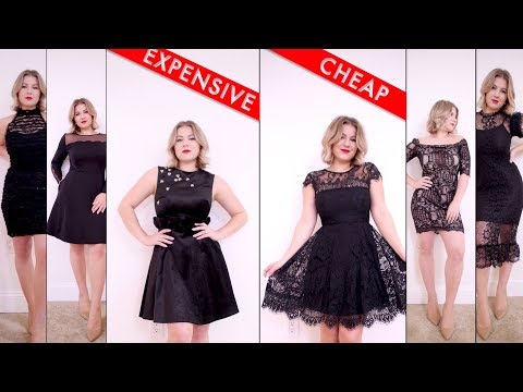 Comparing Cheap vs Expensive LITTLE BLACK DRESSES | Milabu
