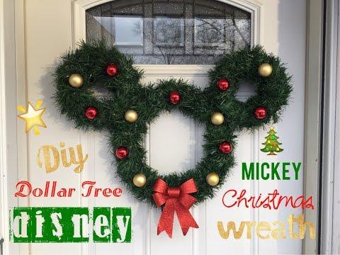 °o° Disney Mickey Christmas Wreath   DIY Dollar Tree 🎄