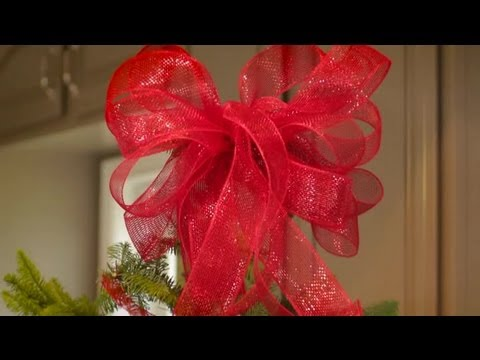 How to Hang Christmas Tree Ribbon Toppers : Christmas Tree Decorations & Tips