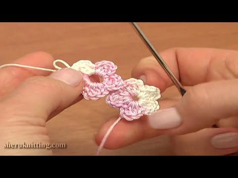 Crochet Floral Cord Tutorial 55 Five-Petal Flower Cord