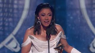 Cardi B Wins Best Rap Album | 2019 GRAMMYs Acceptance Speech