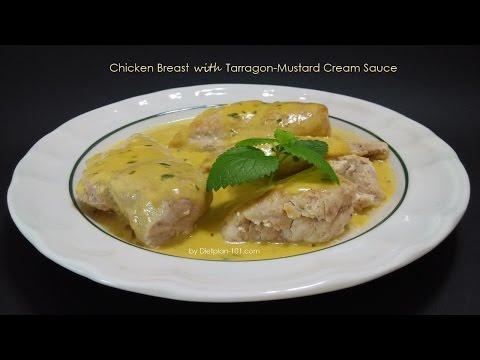 Chicken Breast with Tarragon-Mustard Cream Sauce   Dietplan-101.com