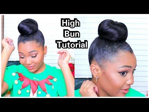 HOW TO: SLEEK HIGH BIG BUN + LAID EDGES!